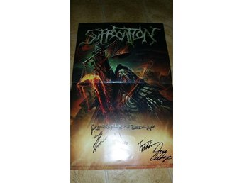SIGNERAD SUFFOCATION AFFISCH POSTER PINNACLE OF BEDLEM