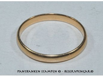1 slät ring 18k 3,4 gr Ø 21 mm B 3 mm, V13422