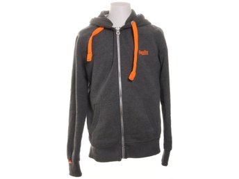 The Superdry Orange Label, Huvtröja, Strl: XL, Grå/Orange