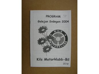 Rally Program Kil Galejan Svängen 2/5 2004