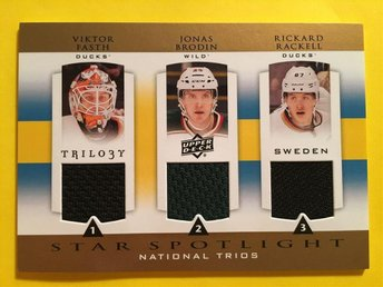 FASTH/BRODIN/RAKELL: 2013-14 Upper Deck Trilogy Three Stars Jerseys #SWEROOK