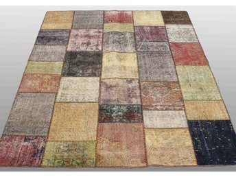 Carpet patchwork, ca 201x156 cm