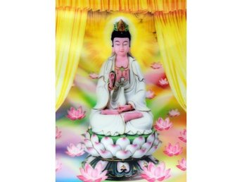 Lotus Buddha. High Definition, 3D-bild. Mått: 30cm x 40cm
