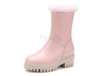 Dam Boots Winter Boots Women Warm Fur Snow Botas Pink 34