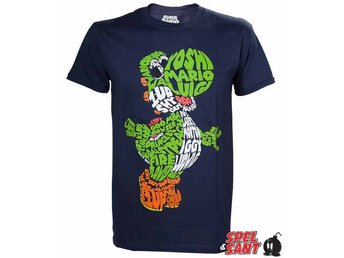 Nintendo Yoshi Word Play T-Shirt Mörkblå (Large)