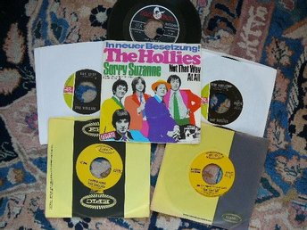 THE HOLLIES - SAMLING 5 SINGLAR + P/S