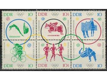 DDR Sommar OS i Tokyo 6-block/** 1964 Mi 26 € - Nybro - DDR Sommar OS i Tokyo 6-block/** 1964 Mi 26 € - Nybro
