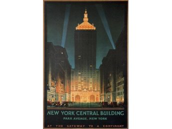 NEW YORK CENTRAL STATION 2 x ART DECO TÅG POSTERS