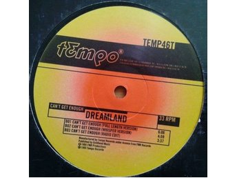 "Dreamland title* Can't Get Enough* House, Euro House 12"" SWE"