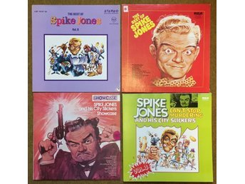 SPIKE JONES vinylsamling -- 3 LP + 1 dubbel-LP i NM skick.