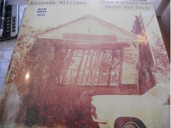 "12"" Lucinda Williams - Just a little  Blå vinyl NY BILLIG"