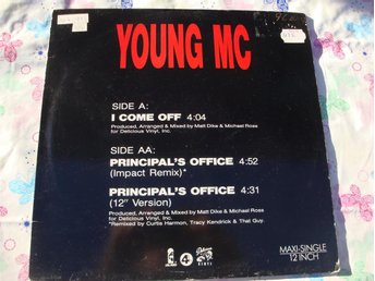 "YOUNG MC - I COME OFF 12"" 1989 WEST COST RAP"