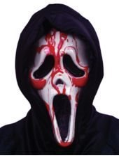 Halloween mask Scream med pumpande blod Ghost Face Halloweenmask One Size