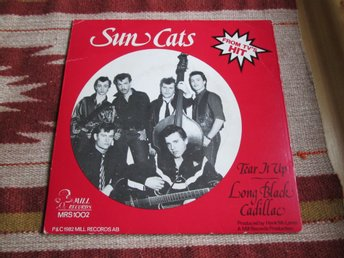 SUN CATS - TEAR IT UP - LONG BLACK CADILLAC 1982, COUNTRY, ROCKABILLY