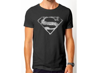 SUPERMAN -  MONO LOGO DISTRESSED (UNISEX) - Extra-Large