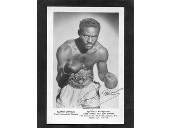 Ezzard Charles med autograf.