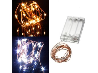Warm White/Pure White 2M 20LED Copper Wire LED String Lig...