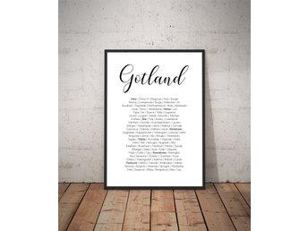 Karta Over Skelleftea Poster 331067334 ᐈ Glimma Design Pa Tradera
