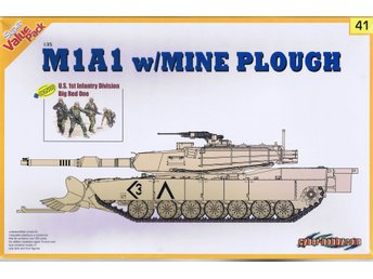 M1A1 with mine plough - Cyber-Hobby - 1/35