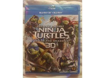 BLU-RAY 3D + BLU-RAY Teenage Mutant Ninja Turtles Out Of The Shadows 3D