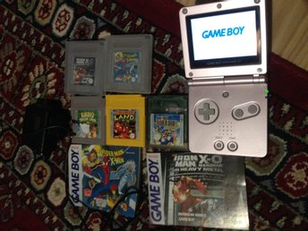 Pink Game Boy Advance SP AGS 101 Backlit version+5 games