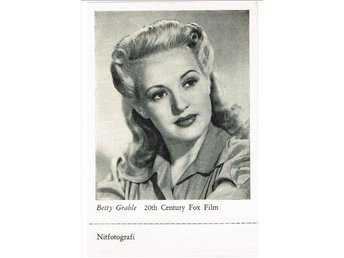 BETTY GRABLE (1916-1973) - Nitfotografi (?)