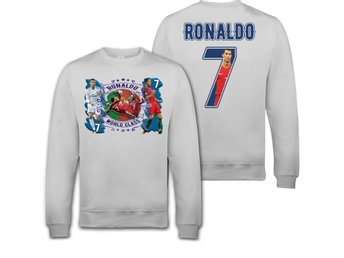 130cl : Ronaldo Portugal / Real madrid Sweatshirt- tryck fram & bak