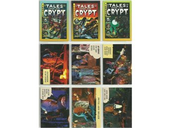 9 st  TALES FROM THE CRYPT  SAMLARKORT  - LOT NR 10