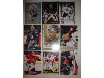 CRAIG ANDERSON - Lot med 9 olika kort - Målvakt - Senators - Avalanche - Borrby - CRAIG ANDERSON - Lot med 9 olika kort - Målvakt - Senators - Avalanche - Borrby