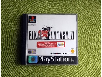 Final Fantasy VI - PSX, PSOne + Demo av FFX PS2. Utrop 1 kr!