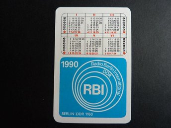 Kalender RBI Radio Berlin international DDR 1990 samlarprylar Germany calendar