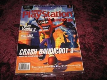 PLAYSTATION MAG 1 1999 NY CD I ORGINALPLAST CRASH BANDICOOT