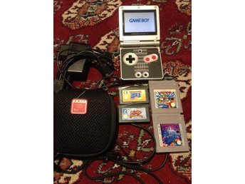 Game Boy Advance SP NES Edition+Kirby+Super Mario Bros 3+Wario land+Tetris