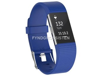 Armband Fitbit Charge 2 Large Dark Blue Fri Frakt Ny