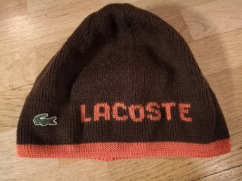 Brun / Orange Lacoste Mössa Beanie