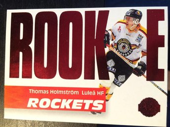 1994-95 Leaf Rookie Rockets ELIT #3 Thomas Holmström Luleå - Torshälla - 1994-95 Leaf Rookie Rockets ELIT #3 Thomas Holmström Luleå - Torshälla