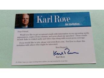 Karl Rove. White House Deputy Chief of Staff. politisk konsult och politisk rådg - Lyckeby - Karl Rove. White House Deputy Chief of Staff. politisk konsult och politisk rådg - Lyckeby
