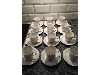 Mocca/kaffe koppar med fat Winterling Röslau Bavaria 50tal - Trelleborg - Mocca/kaffe koppar med fat Winterling Röslau Bavaria 50tal - Trelleborg