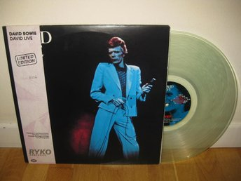 DAVID BOWIE - David live 2-LP 1974/1990 / Clear vinyl / Ryko - Stockholm - DAVID BOWIE - David live 2-LP 1974/1990 / Clear vinyl / Ryko - Stockholm