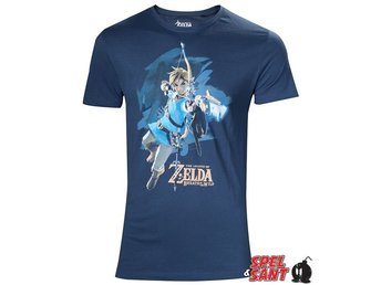 Nintendo Zelda Breath of the Wild Link Archer T-Shirt Blå (Medium)