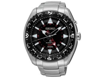 Seiko prospex Kinetic GMT  kompass 46mm 100m xl Sun049p1 pris 4498kr