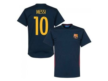 Barcelona T-Shirt Messi 10 Fan Style Barn 10 år