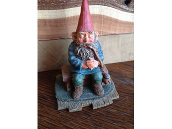 Gnomes Rien Poortvliet original, made in Holland.Trolltyg i tomteskogen. Tiptop