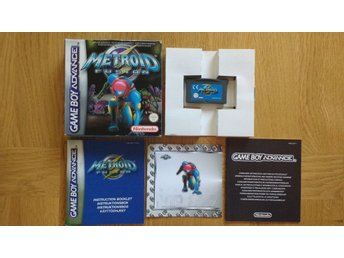 GBA/Game Boy Advance: Metroid Fusion (svensksålt)