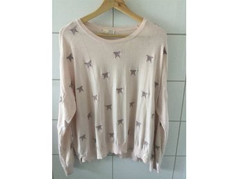 Odd molly happiness sweater st. 3 bomull rosa fint skick!