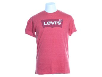 Levi Strauss & Co, T-shirt, Strl: M, HOUSEMARK GRAPHIC TEE, Röd/Vit