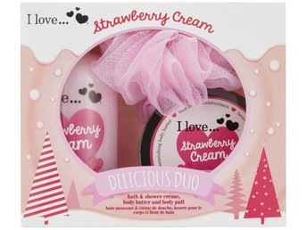 I Love Strawberry Cream Delicious Duo Giftset