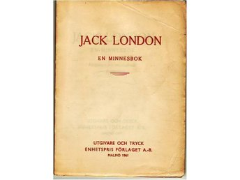 Jack London, en minnesbok 1961