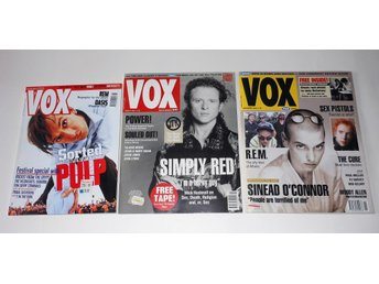 Rocktidningar, VOX (3st) Pulp, Simply Red mm