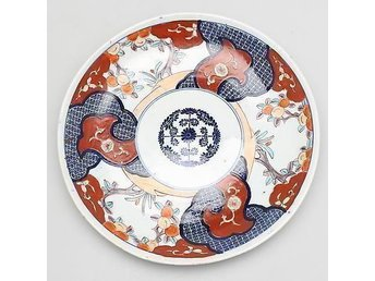 STORT FAT i porslin,Antik  Imari, Japan 1800-tal.